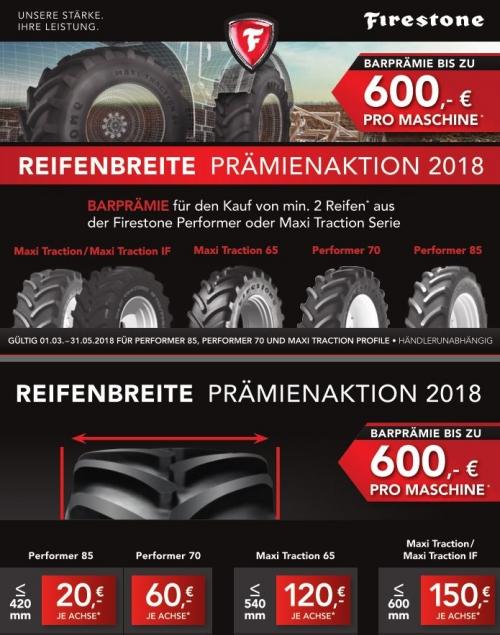 Landwirtschaft FIRESTONE Aktion