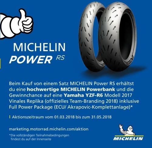 Motorrad Michelin RS Aktion